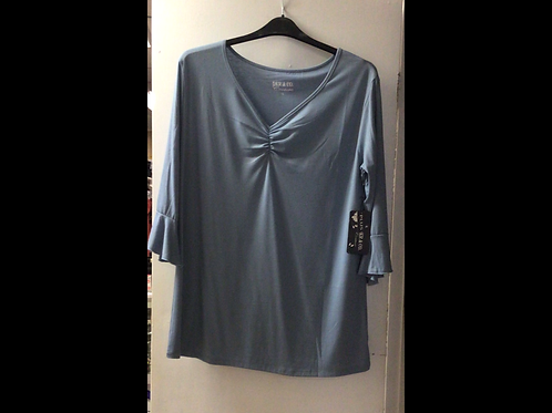 Full Figure 3/4 Bell Sleeve Tunic Top