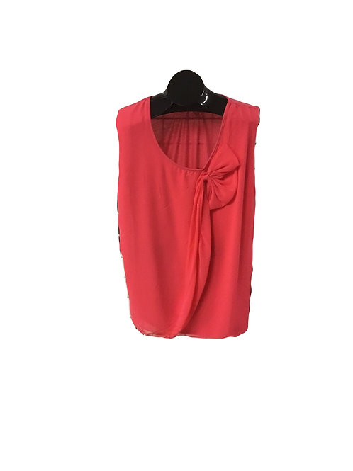 Full Figure Tank with Chiffon Overlay and Bow