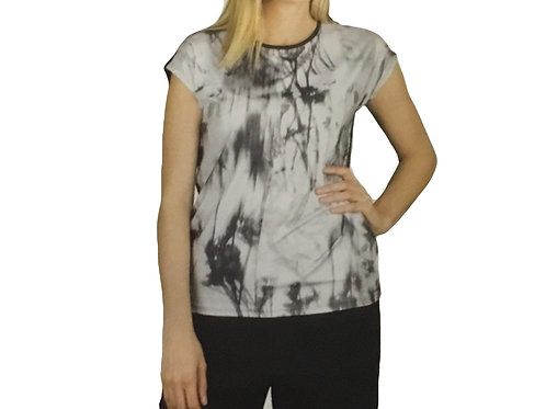 Capsleeve Placement Print Top