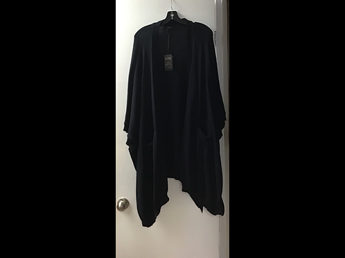 Black DKR & Company Oversized Cape with Pockets