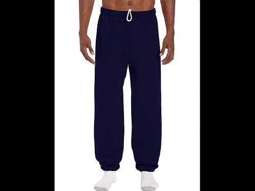 Navy Gildan Elastic Bottom Sweatpants