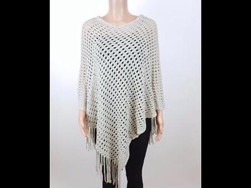 Crochet Poncho with Fringe