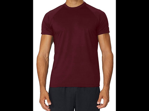 Wine Qwick Dry Crewneck T-Shirt