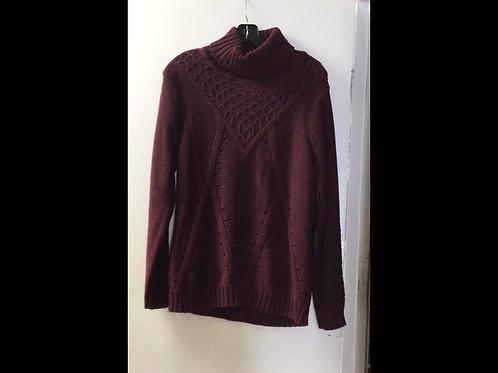 Merlot DKR Apparel Knit Turtleneck Sweater