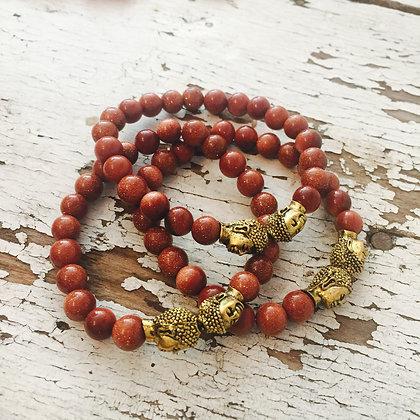 Glittery Buddha Bracelet- So FUN!