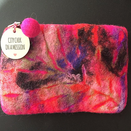 Pink Nepal Handmade Leaf Pouches