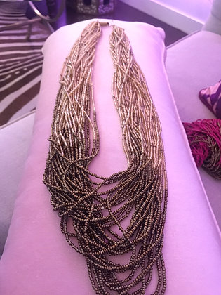 Kenyan Long Necklace- Neutral