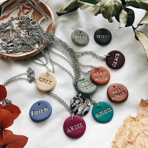 Custom Clay Necklaces
