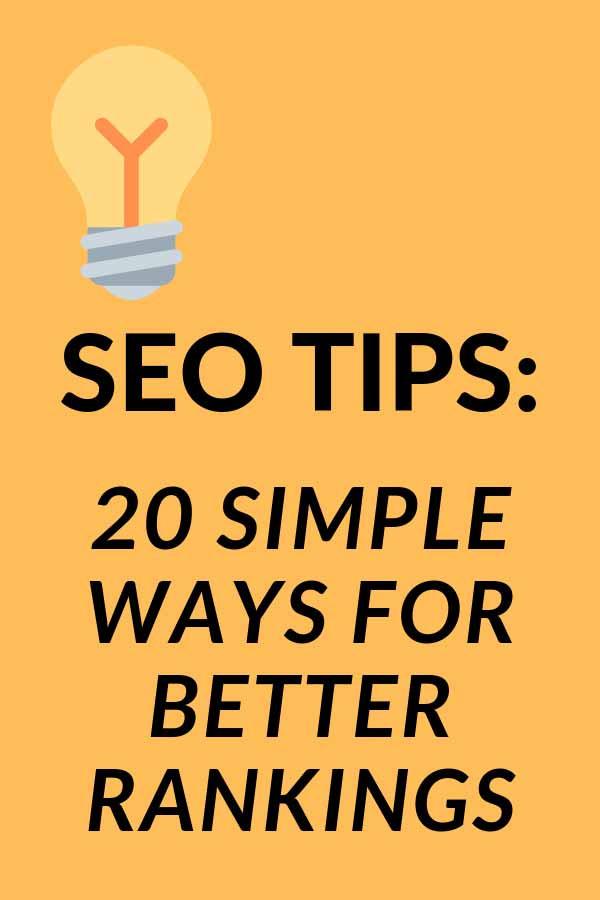 SEO Tips For Better Rankings