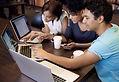 젊은 사람 - 컴퓨터와 회의