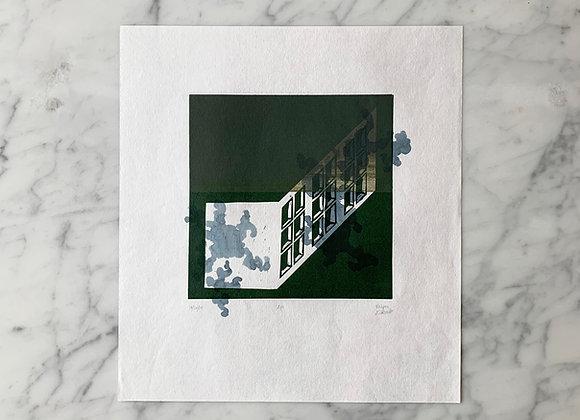 Original Art | Relief Block Print & Watercolor