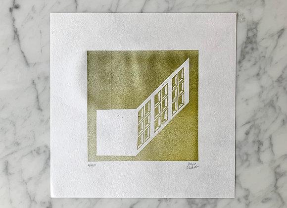 Original Art   Relief Block Print