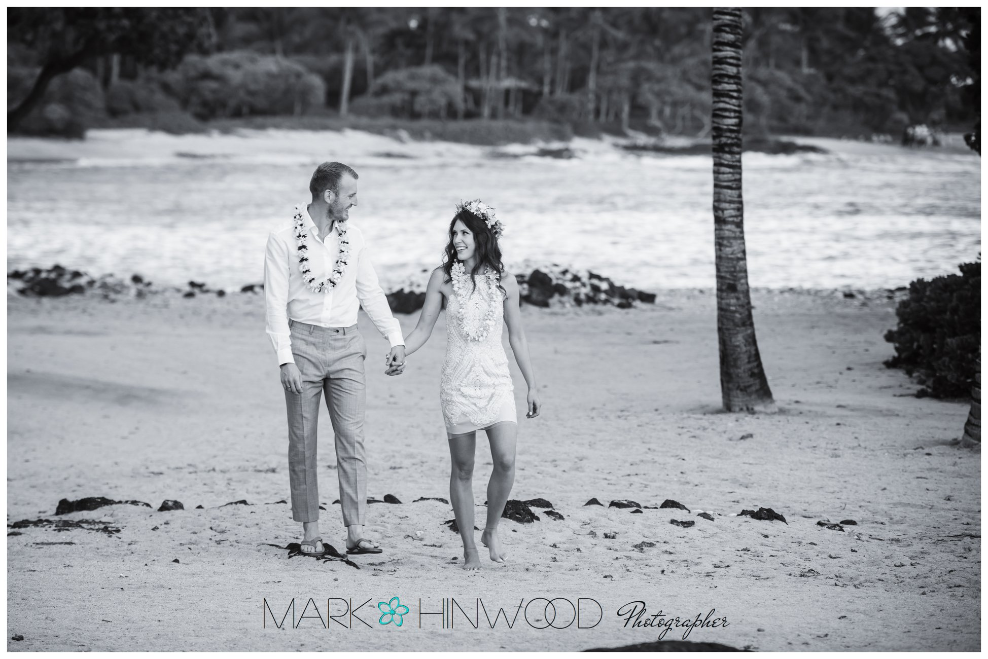 Simple Kona beach weddings 1-2