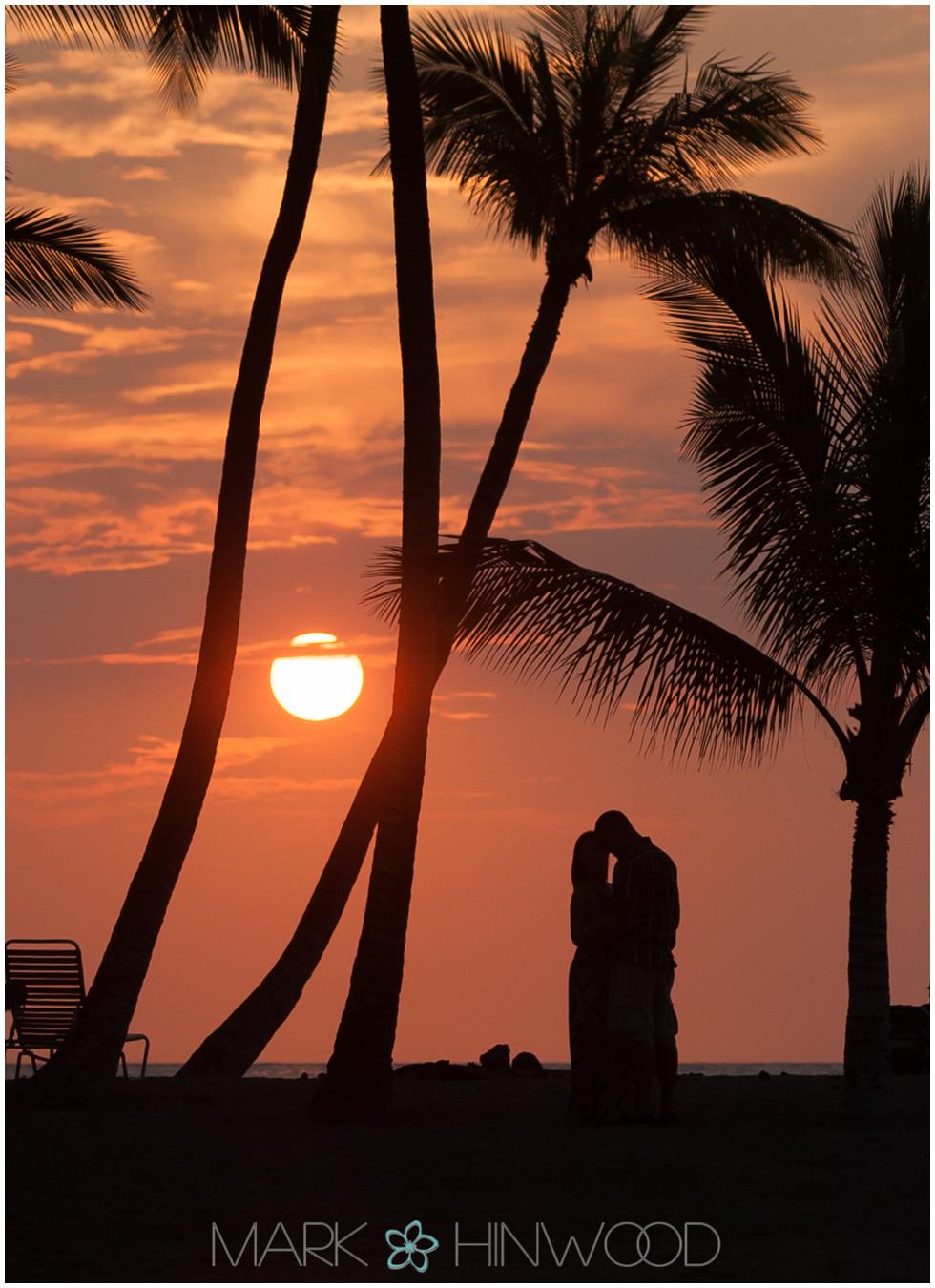 Anaeho'omalu Bay sunset