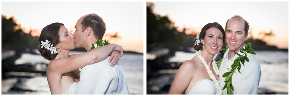 hawaii sunset wedding