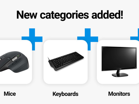 3 new product categories added to Crrowd! ⌨️