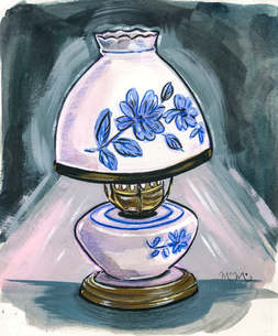 Blue Porcelain Lamp