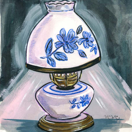 Blue Porcelain Lamp