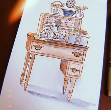 Grandma's Gardening Desk