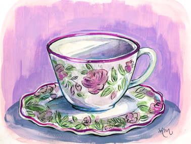 Rose Teacup