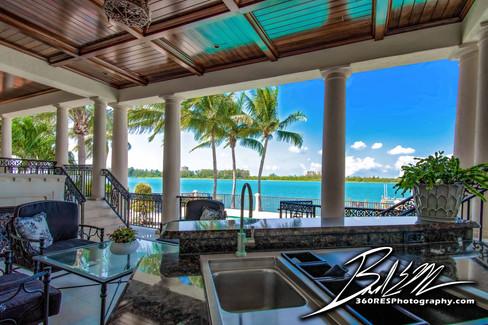 Siesta Key Luxury Home Patio View - Real Estate Photography - Bradenton & Sarasota, Florida - 360 Real Estate Services, LLC