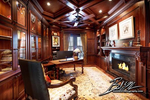 Office / Den Luxury Home - Real Estate Photography - Bradenton & Sarasota, Florida - 360 Real Estate Services, LLC