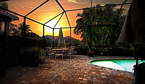 360 Real Estate Services, LLC - Illustration, Twilight,  & HDR Photography Services - Sarasota & Bradenton, Florida - After Sample of Patio & Pool