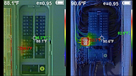 Infrared Thermal Imaging Is A Useful Diagnostic Tool That May Uncover Electrical Hazzards in Your Home - 360 Real Estate Services, LLC - Sarasota & Bradenton, Florida