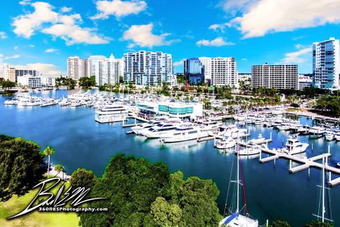 Bayfront Park Aerial Image - Real Estate Photography - Bradenton & Sarasota, Florida - 360 Real Estate Services, LLC