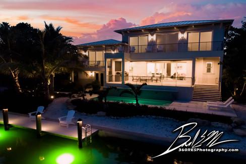 Longboat Key Drone / Aerial Twilight Image Image - Real Estate Photography - Bradenton & Sarasota, Florida -360 Real Estate Services, LLC