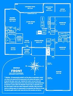 360 Real Estate Services - Floor Plan Services Blue Print Sample 2 - Sarasota & Bradenton, Florida