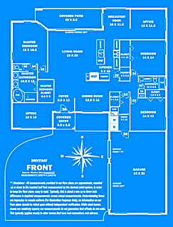 360 Real Estate Services - Floor Plan Services Blue Print Sample 2 - Sarasota & Bradenton, Florida