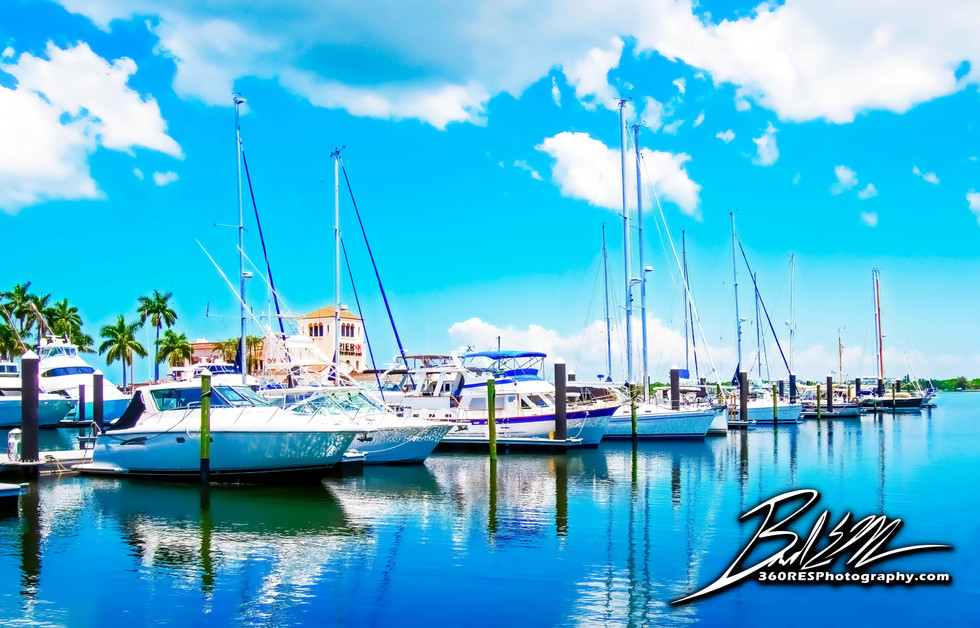 Downtown Pier 22 Marina Image - Real Estate Photography - Bradenton & Sarasota, Florida - 360 Real Estate Services, LLC