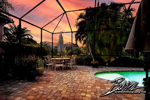 Residential Pool / Patio After Illustration - Real Estate Photography - Bradenton & Sarasota, Florida - 360 Real Estate Services, LLC