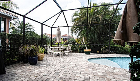 360 Real Estate Services, LLC - Illustration, Twilight,  & HDR Photography Services - Sarasota & Bradenton, Florida - Before Sample of Patio & Pool