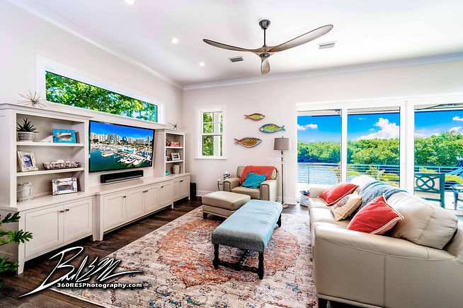 Lonboat Key Living Space - Real Estate Photography - Bradenton & Sarasota, Florida - 360 Real Estate Services, LLC