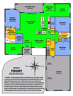 360 Real Estate Services - Floor Plan Services Color Print Sample 2- Sarasota & Bradenton, Florida