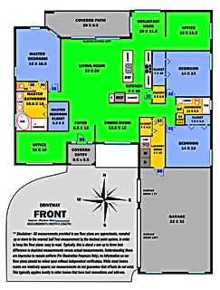 360 Real Estate Services - Floor Plan Services Color Print Sample 2- Sarasota & Bradenton, Florida