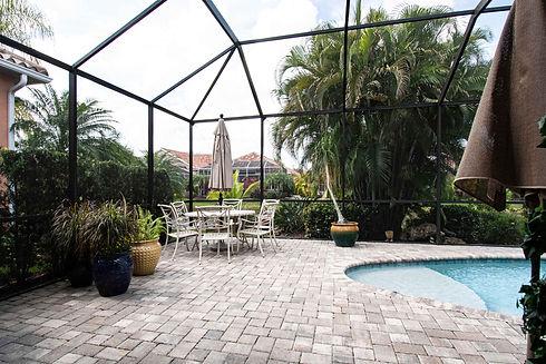 Residential Pool / Patio Before Illustration - Real Estate Photography - Bradenton & Sarasota, Florida - 360 Real Estate Services, LLC