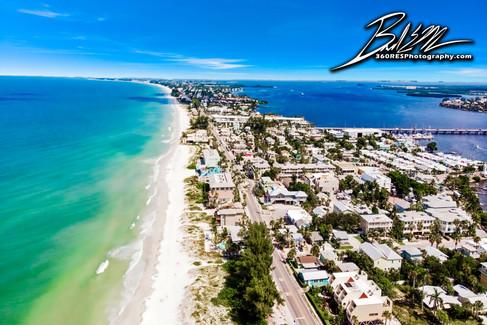 Holmes Beach Aerial / Drone Image - Real Estate Photography - Bradenton & Sarasota, Florida - 360 Real Estate Services, LLC