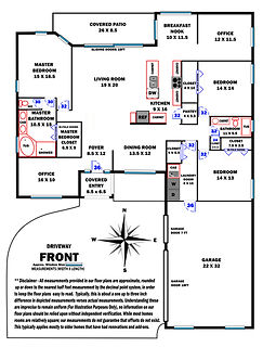 360 Real Estate Services - Floor Plan Services Highlited Print Sample 2 - Sarasota & Bradenton, Florida