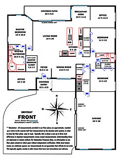 360 Real Estate Services - Floor Plan Services Highlited Print Sample 2 - Sarasota & Bradenton, Florida