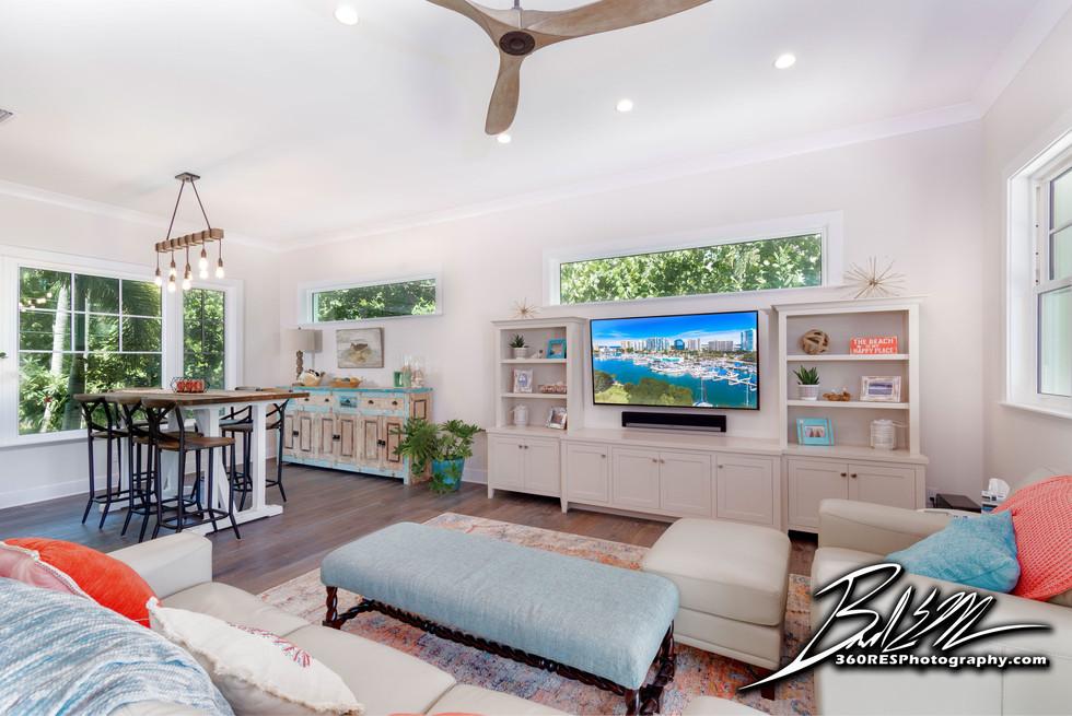 Longboat Key Living Space - Real Estate Photography - Bradenton & Sarasota, Florida - 360 Real Estate Services, LLC