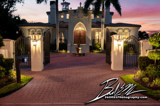 Twilight Entrance - Sarasota, Florida - 360 Real Estate Services, LLC - Photography
