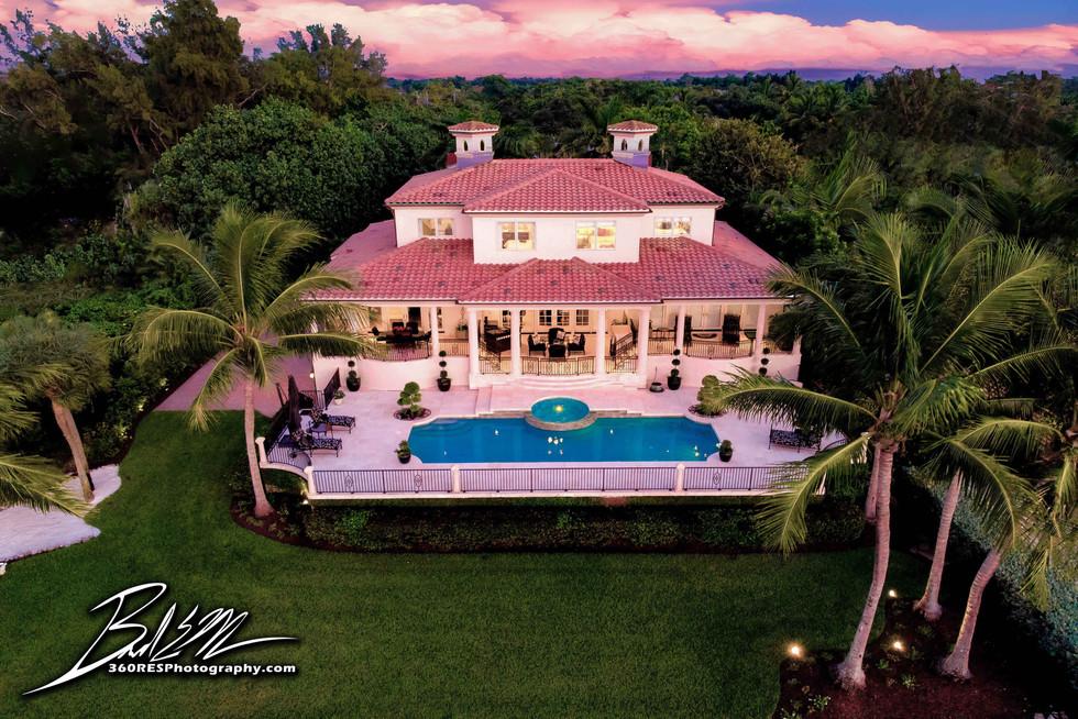 Siesta Key Twilight Aerial Image - Real Estate Photography - Bradenton & Sarasota, Florida - 360 Real Estate Services, LLC