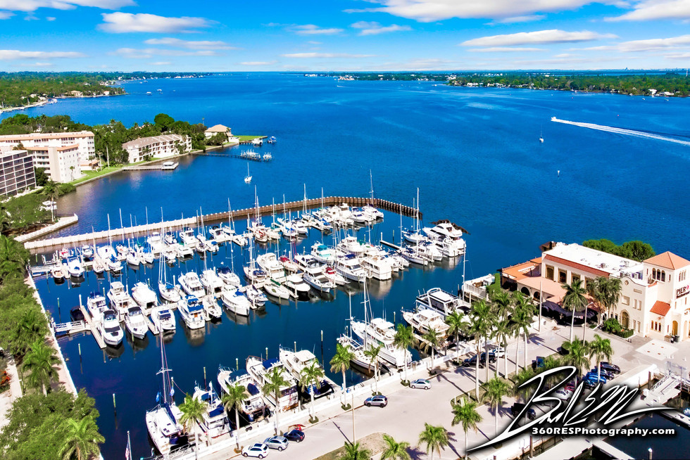 Downtown Pier 22 Marina Drone Image - Real Estate Photography - Bradenton & Sarasota, Florida - 360 Real Estate Services, LLC
