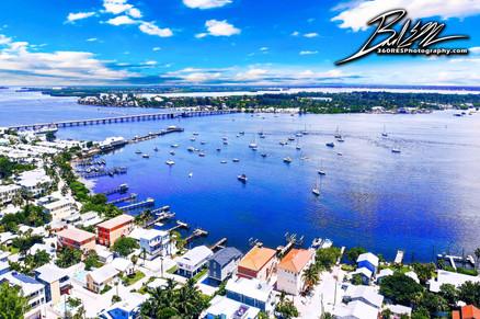 Cortez Drone Image From Bradenton Beach - Real Estate Photography - Bradenton & Sarasota, Florida - 360 Real Estate Services, LLC