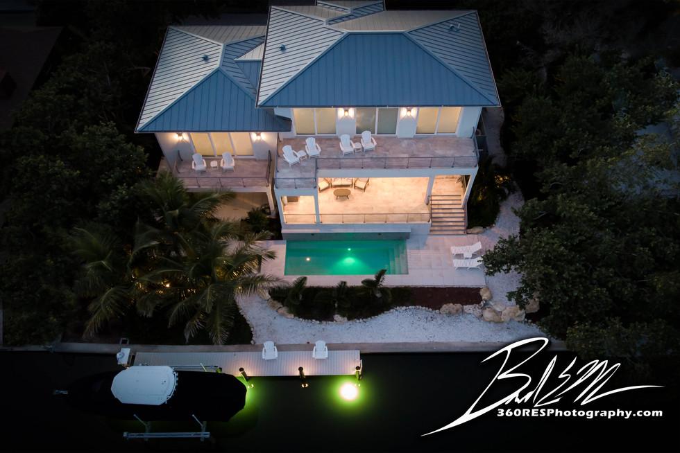 Longboat Key Drone / Aerial Twilight Image Image - Real Estate Photography - Bradenton & Sarasota, Florida - 360 Real Estate Services, LLC
