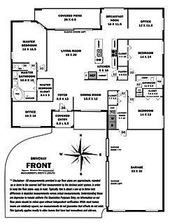 360 Real Estate Services - Floor Plan Services Grayscale Print Sample 2- Sarasota & Bradenton, Florida