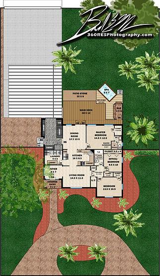 Site Plan Example - 360 Real Estate Services - Floor Plan Services Highlited Print Sample 2 - Sarasota & Bradenton, Florida
